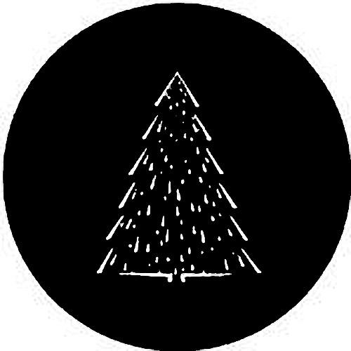 Rosco Standard Steel Gobo #7363 - Christmas Tree C