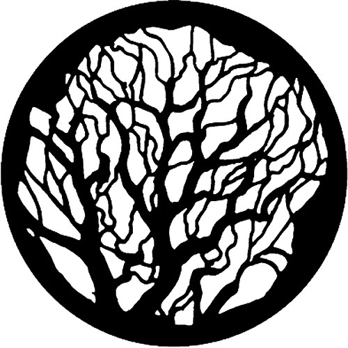 Rosco Standard Steel Gobo #77100 - Tree 2 (Size B, 86 mm)