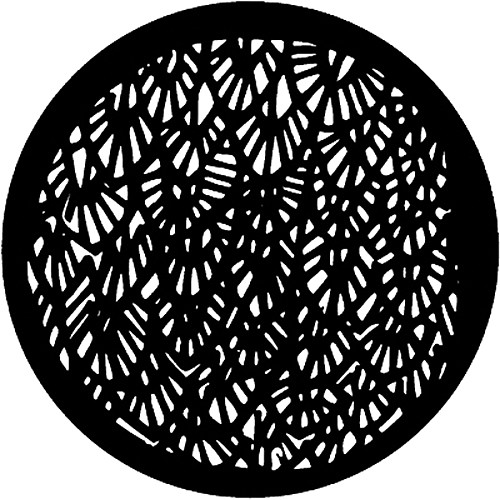 Rosco Standard Steel Gobo #7102 - Abstract Leaves - Size M 66mm
