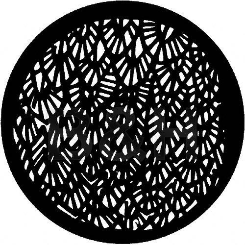 Rosco Standard Steel Gobo #7102 - Abstract Leaves - Size A 100mm