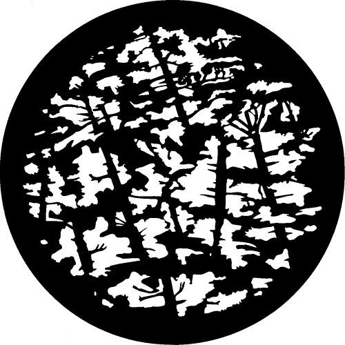 Rosco Standard Steel Gobo #7107 -  Pine Branches - Size A 100mm