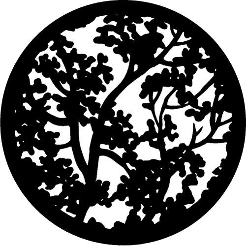 Rosco Standard Steel Gobo #7109 - Blossoms (Detail) - Size A 100mm