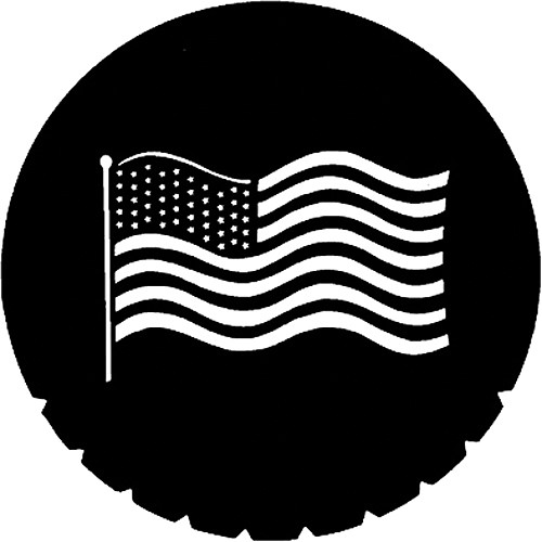 Rosco Steel Gobo #7122 - Waving U.S. Flag - Size E