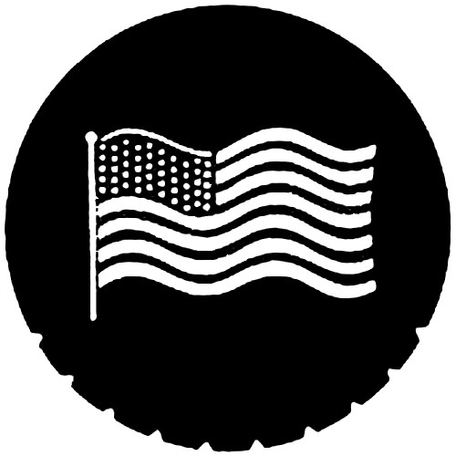 Rosco Steel Gobo #7122 - Waving U.S. Flag - Size A