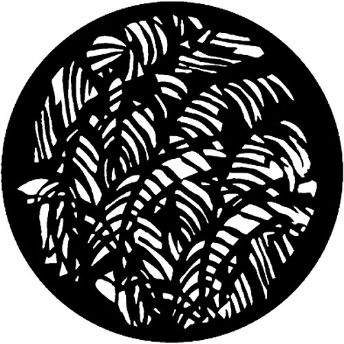 Rosco Standard Steel Gobo #7126 - Jungle Leaves - Size E 37.5mm