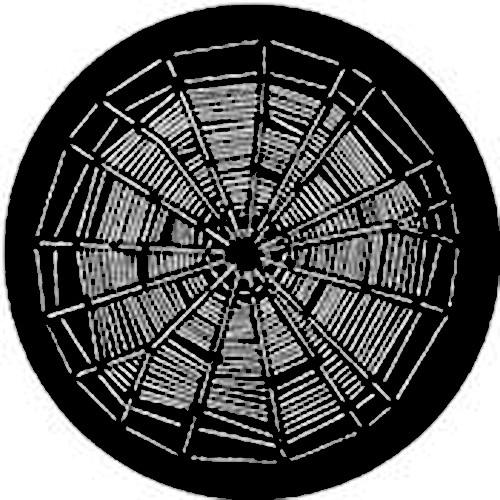 Rosco Steel Gobo #7129 - Negative Web