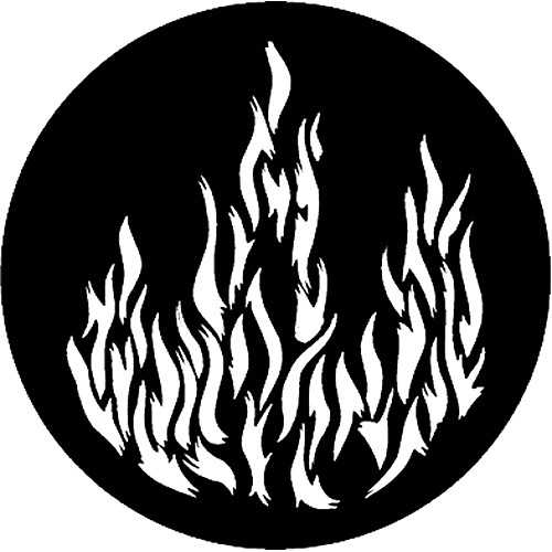 Rosco Steel Gobo #7175 - Flames 1 - Size M