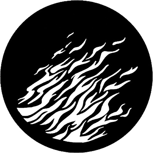 Rosco Steel Gobo #7176 - Flames 2 - Size M