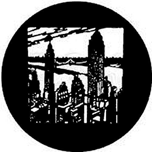 Rosco Standard Steel Gobo #7203 - New York