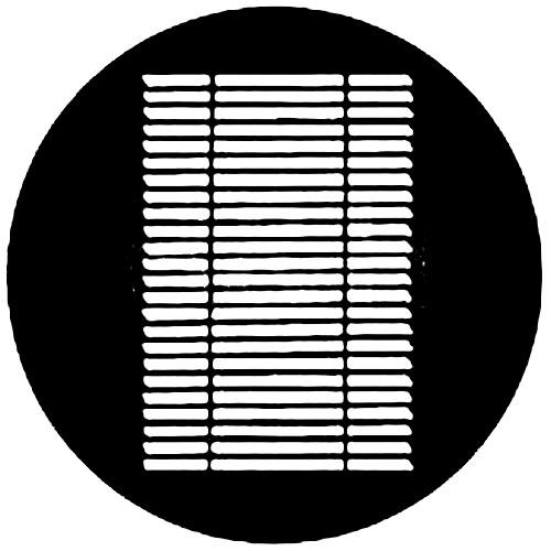 Rosco Steel Gobo #7215 - Louvre - Size A