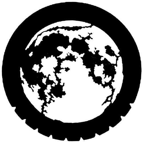 Rosco Standard Steel Gobo #7220 - Moon - Size A 100mm