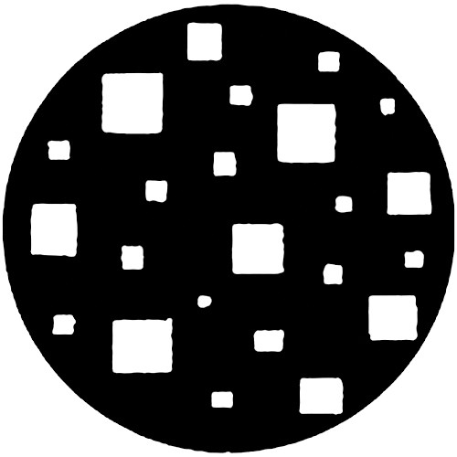 Rosco Steel Gobo #7221 - Floating Squares - Size A