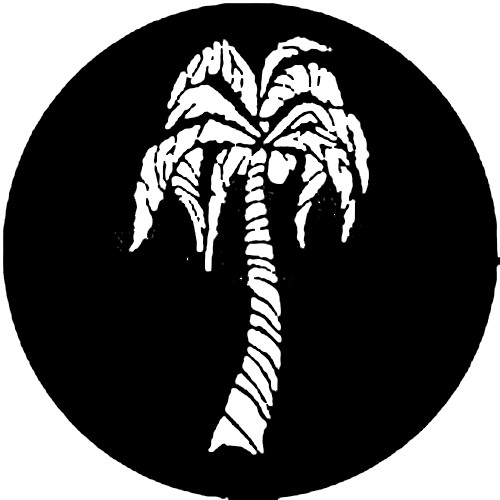 Rosco Standard Steel Gobo #7222 - Tropical Palm - Size A 100mm