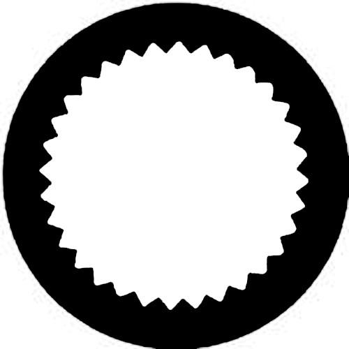 Rosco Standard Steel Gobo #7255 - Vingette Aperture 1
