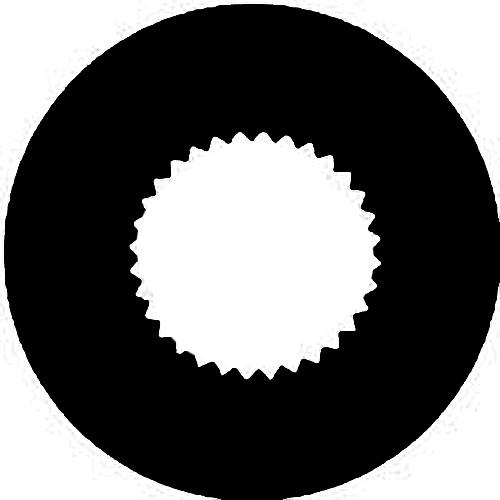 Rosco Steel Gobo #7256 - Vingette Aperture 2