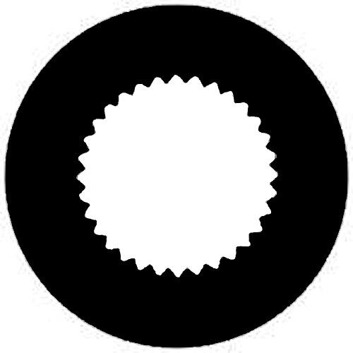 Rosco Steel Gobo #7257 - Vingette Aperture 3