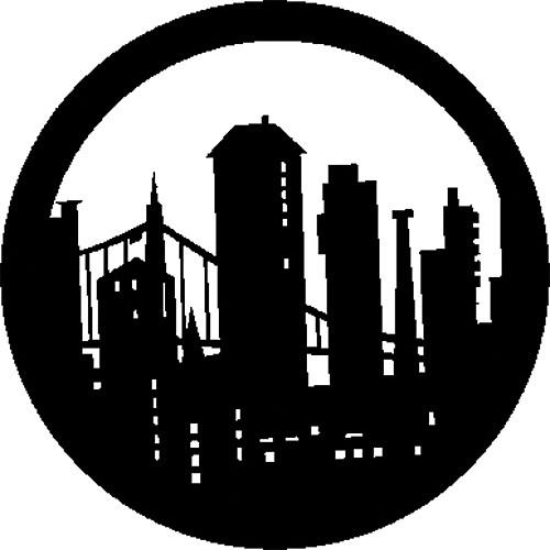 Rosco Steel Gobo #7270 - Modern Skyline - Size B