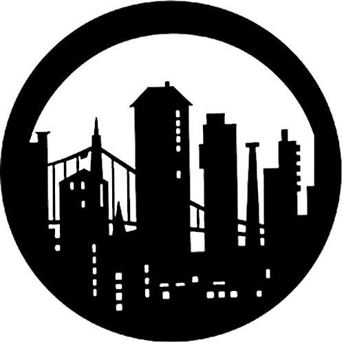 Rosco Steel Gobo #7270 - Modern Skyline - Size A