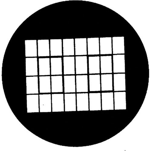 Rosco Steel Gobo #7279 - Industrial Window - Size A
