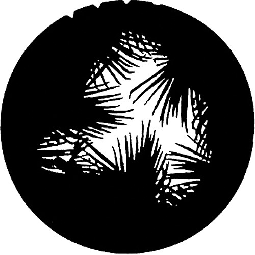 Rosco Steel Gobo #7282 - Dense Palm - Size B