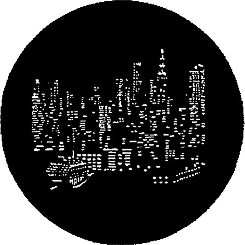 Rosco Steel Gobo #7287 - NYC Skyline - Size A
