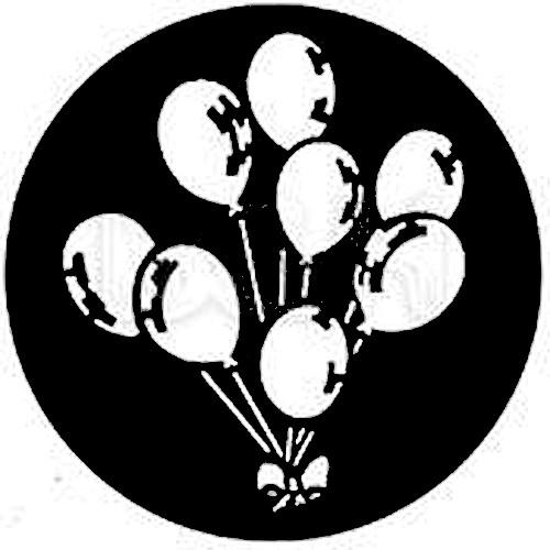 Rosco Standard Steel Gobo #7303 - Balloons - Size A 100mm