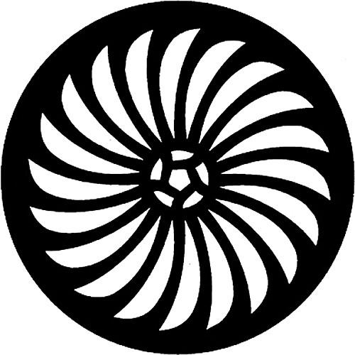 Rosco Steel Gobo #7427 - Pin Wheel - Size E