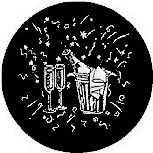 Rosco Steel Gobo #7430 - Champagne