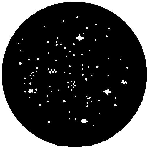 Rosco Stainless Steel Gobo #77514 - Star Cluster - Size M 66mm