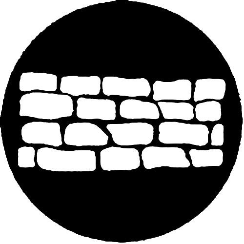 Rosco Standard Steel Gobo #7519 - Stone Wall 1