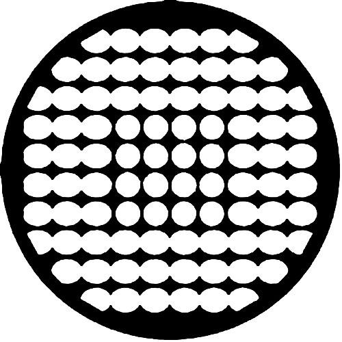 Rosco Steel Gobo #7522 - Geometrics 8