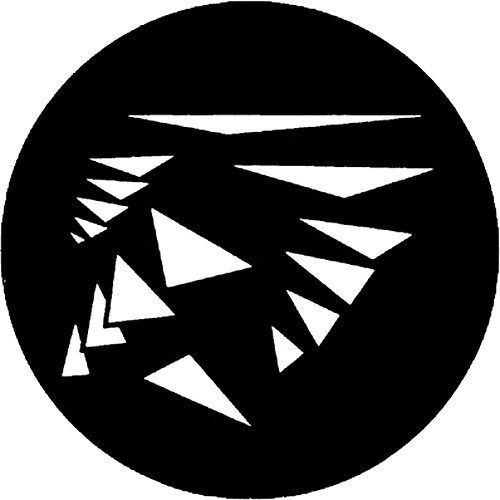 Rosco Steel Gobo #7566 - Flying Shapes 3 - Size B