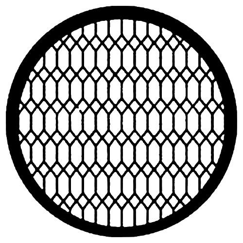 Rosco Standard Steel Gobo #7597 - Diamond Lattice - Size E 37.5mm