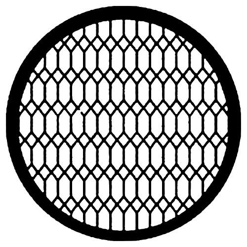Rosco Standard Steel Gobo #7597 - Diamond Lattice - Size M 66mm