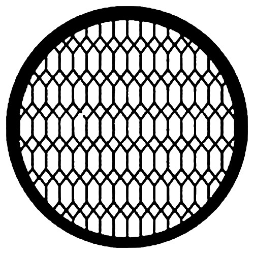 Rosco Steel Gobo #7597 - Diamond Lattice - Size B