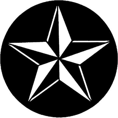Rosco Standard Steel Gobo #7598 - 3D Star - Size B 86mm