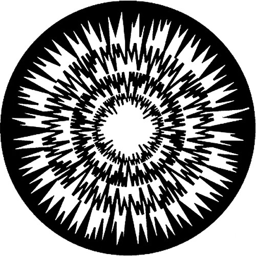 Rosco Standard Steel Gobo #7616 - Jagged Circles - Size E 37.5mm