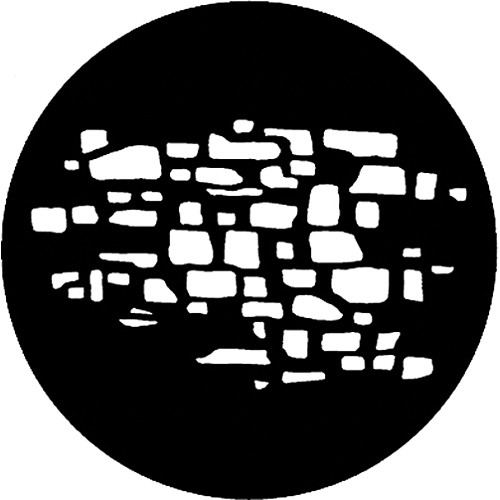 Rosco Steel Gobo #7618 - Stonewall 2 - Size A