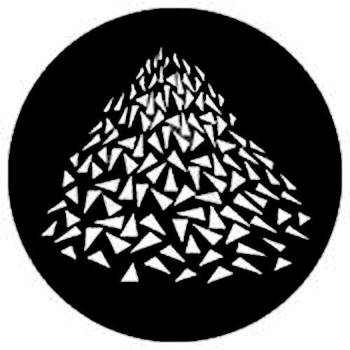 Rosco Steel Gobo #7637 - Vanishing Triangles - Size B