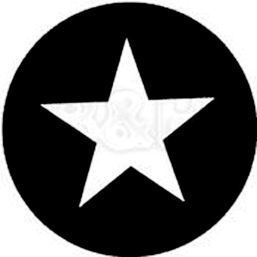 Rosco Standard Steel Gobo #7708 - Five Point Star