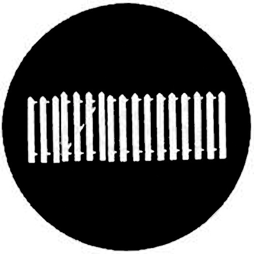 Rosco Steel Gobo #7715 - Fence with Gate