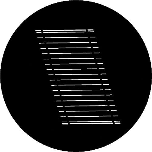 Rosco Standard Steel Gobo #7717 - Oblique Blinds - Size B 86mm