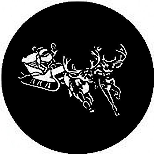 Rosco Steel Gobo #7720 - Santa & Sleigh