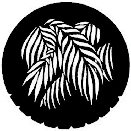 Rosco Steel Gobo #7730 - Palm - Size A