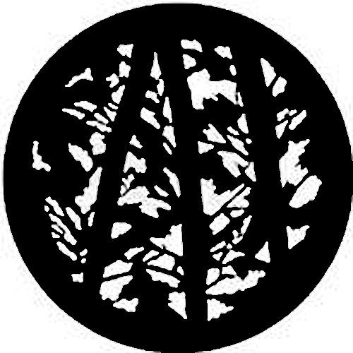 Rosco Standard Steel Gobo #7734 - Pine Trees