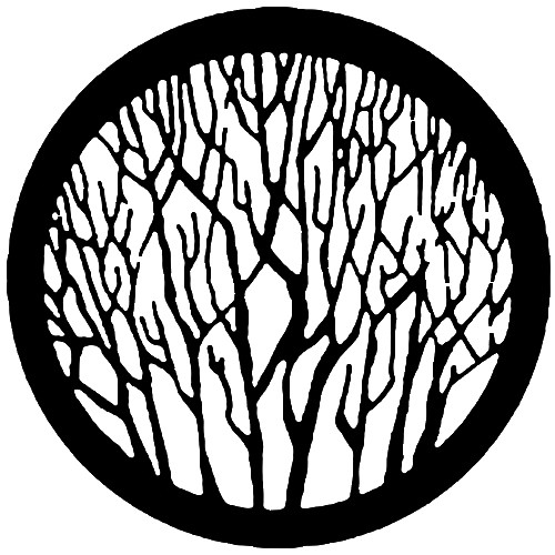Rosco Standard Steel Gobo #7735 - Bare Branches - Size A 100mm