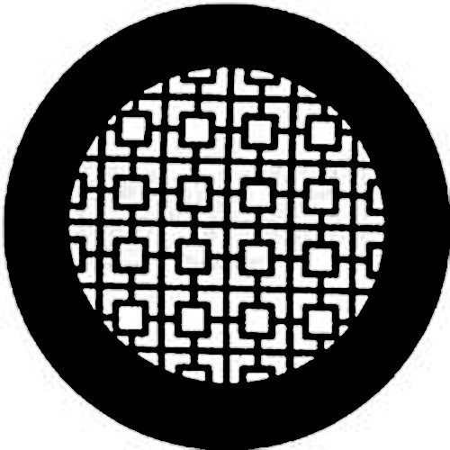 Rosco Standard Steel Gobo #7740 - Chinese Screen - Size A 100mm