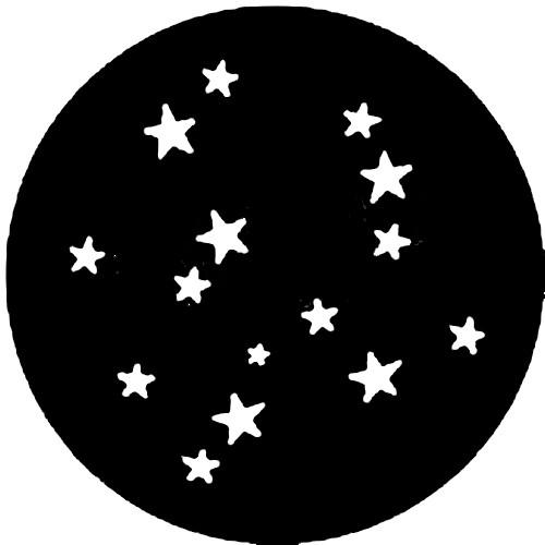 Rosco Steel Gobo #7752 - Stars 4 - Size E
