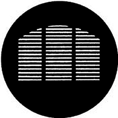 Rosco Standard Steel Gobo #7755 - Morgue Window