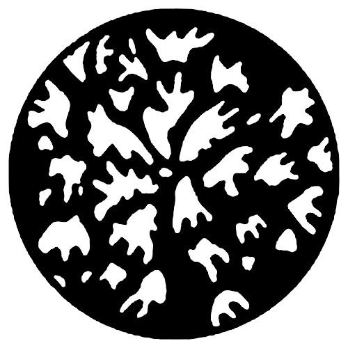 Rosco Standard Steel Gobo #7757 - Irregular Leaves